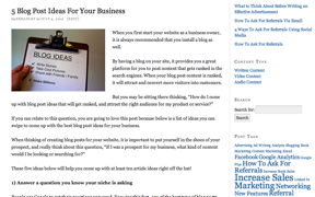 Brilliant Business Advice Blog Post